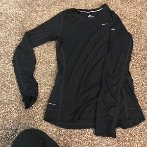 Black long sleeve Nike dri fit shirt